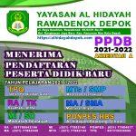 Penerimaan Peserta Didik Baru (PPDB) Raudhatul Athfal ( RA / TK ) Al Hidayah Rawadenok Depok Tahun Pelajaran 2021/2022